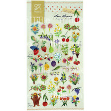 Love Flower Style Transparent Diary Deco Stickers Labels Scrapbook Journal