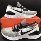 Nike Epic React Flyknit 2 Oreo Running Shoes BQ8928-101 Black White Mens Size