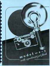 Argus C3 Camera Repair Manual Reprint