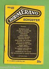 #D165. BOOMERANG  SONGSTER No. 82 SONG WORDS