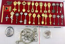 Fairy Tail Lucy Heart Celestial Spirit Gate Key Chain Pendant Necklace 29Pcs