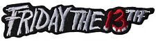 "Friday the 13th Movie Name Logo 4"" Wide Embroidered Patch"