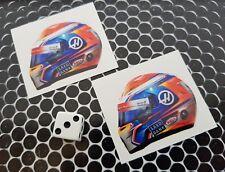x 2 Romain Grosjean Helmet Stickers Haas Ferrari Formula 1 F1