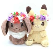 "2pcs Easter Eevee Pikachu 6"" Poke Plush Doll Figure Toy"