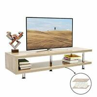 Bestier Short TV Stand w/ 2-Shelf, 47' Media Furniture Wood Storage Console
