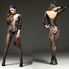 Sexy Fishnet Open Crotch Body Stocking Bodysuit Nightwear Lingerie-Women New