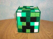 Needlepoint on Plastic Canvas Minecraft tissue box cover