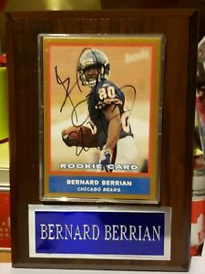 Bernard Berrian Auto 2004 Bazooka Gold Chicago Bears Autograph Card in PLAQUE!