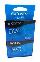 2 New Sony Premium Mini DV DVC Camcorder Digital Video Tapes 60 LP:90 (I)