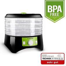 Deshidratadora fruta verdura carne maquina Klarstein Desecadora 4 bandejas verde