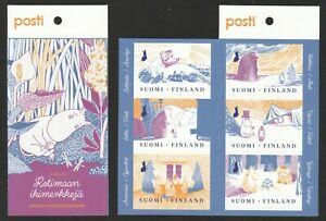 FINLAND 2019 MOOMINS BOOKLET COMP. SET OF 6 STAMPS IN MINT MNH UNUSED CONDITION