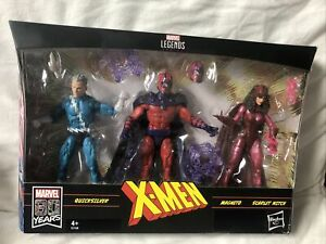 Marvel Legends X-Men Family Matters Quicksilver, Magneto, Scarlet Witch Hasbro
