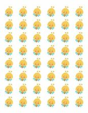"48 CUTE BUMBLE BEE 1 ENVELOPE SEALS LABELS STICKERS 1.2"" ROUND"