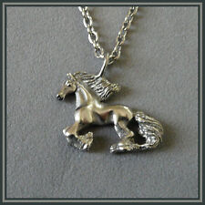 Horse Pendant Stainless Steel Friesian Horse Jewelry Dragons FlyDesigns