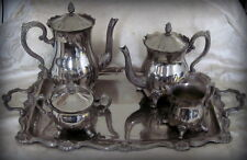 French vintage art deco 5 piece tea and coffee set.