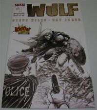 "WULF #1 ""RARE"" KAPOW! UK COMIC CON SKETCH VARIANT (Atlas 2011) Ltd to 250! (VF-)"