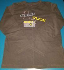 mini boden boys black camera click click long sleeve size 9-10y