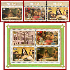 Aitutaki 1978 Easter, Religion, ART, painting by Rembrandt, SG 252-255, ** MNH