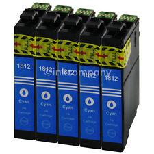 5 Cartouche D'Encre Compatible avec Epson T1812 XL Bleu Cyan avec Puce