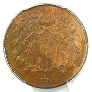 1872 Two Cent Coin 2C - Certified PCGS XF45 - Rare Key Date Coin - $1,150 Value!