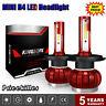 2x MINI COB H4 1500W 225000LM  LED Headlight Kit 9003 HB2 6000K Hi/Lo Beam Bulbs