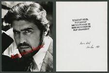 Orig. Professional Photo Hand Trigger Portrait actor Mario Adorf Munich Stamp 1968