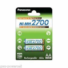 2 x Panasonic Eneloop Mignon AA HR6 Akku NiMH 1,2 V 2700mAh (min.2500) BK-3HGAE