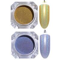 2 Boxen BORN PRETTY Holographisch Nagel Glitzern Pulver Nail Art Powder Kit