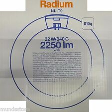 Leuchtstofflampe Ringform   NL-T9 32W-840C   Weiß   G10Q   b305mm   Ø29mm RADIUM
