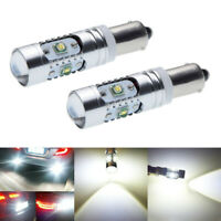2 X Canbus White H21W BAY9S 120° CREE 25W LED Bulbs for Backup or Parking Lights