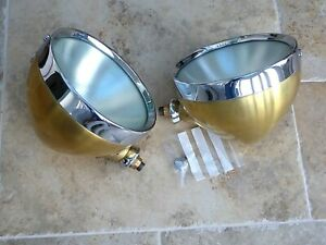 2 x Reproduction Lucas Rotax Headlights - For 1930's Cars eg MG 'J' Type