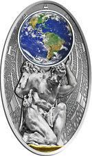 APOCALYPSE II ATLAS Mother Earth Maya Calendar FIJI 10$ 2012 Silver Coin