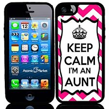 Chevron Pink Keep Calm Im An Aunt For Iphone 6 Case Cover