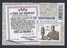 2010 Bloc n° F4493 DE GAULLE - APPEL du 18 JUIN 1940 NEUF** LUXE