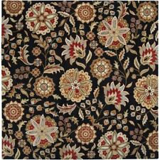 Surya Athena 8' Square Dark Forest Floral Print Hand Tufted Rug