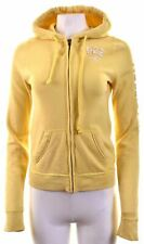 HOLLISTER Womens Hoodie Sweater Size 10 Small Yellow Cotton  CO15