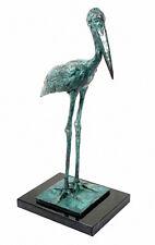 Künstler VOGEL Bronze STORCH SATTELSTORCH sign. BUGATTI