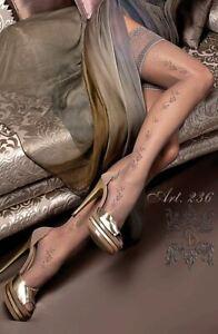 Ballerina ART 236 Hold Ups Thigh-Highs Gray Luxury Hosiery