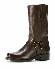 NIB New FRYE Men's Belted Harness 12R Leather Boots Dark Brown Size 11 1/2 M