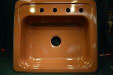 Vintage Kitchen Sink Mid Century Rare Brown / Mocha