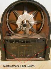 Telefunken 340WL Metal corners  Ecken rückwand  katzenkopf Replica