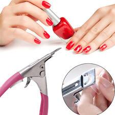 Pink Edge Nail Art Manicure Acrylic Gel False Tips Clipper Cutter nail scissors
