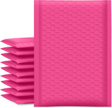 Ucgou Bubble Mailers 6x10 Inch Hot Pink 25 Pack Poly Padded Envelopes Small Self