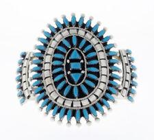 Sleeping Beauty Turquoise Needlepoint Cluster Bracelet