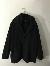 Mens Chaps Classic Fit Top Coat Wool Blend Removable Zippered Lining