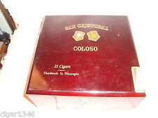 SAN CRISTOBAL COLOSO WOOD CIGAR BOX