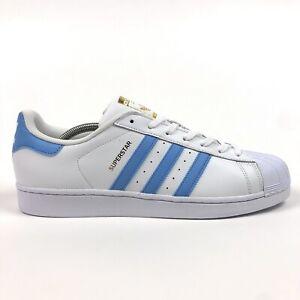 Adidas Originals Superstar Foundation Men 11.5 Low White Light Blue Shoes BY3716