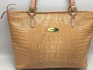 Brahmin Peach Melbourne Large Satchel Handbag - Stunningly Beautiful Color