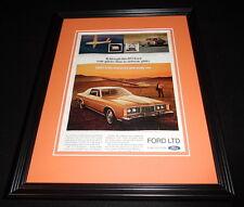 1973 Ford LTD Framed 11x14 ORIGINAL Vintage Advertisement