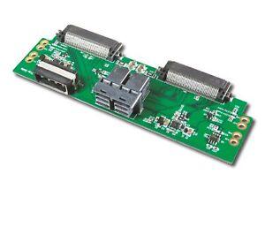 Mini SAS HD (SFF-8643) 8-Lane for Dual Ports Hot Plug U.2 NVMe SSD Adapter